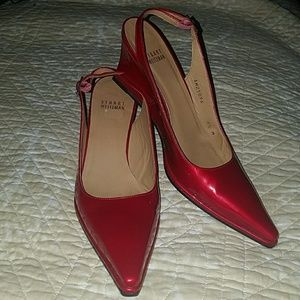 Shoes - STUART WEITZMAN CANDY APPLE RED POINTED TOE  SHOES
